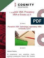 Kurs VBA - Procedury VBA w Excelu Cz.II.pptx