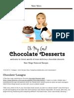 Chocolate Lasagna _ OMG Chocolate Desserts