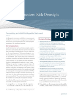 Formulating an Intial Risk Appetite Statement