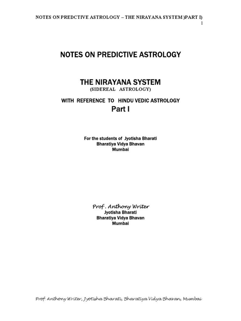 Predictive Astrology Part i PDF