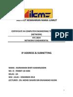Assignment KFC 2044 Network Fundamental