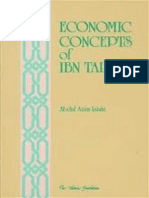 Economic Views of IBN Taimiyah