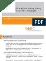 Sexual Behavior Identity Among Msm Shine Nov 2012