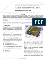 Design of a Reconfigurable, Multi-frequency & Circularly Polarized Microstrip Patch Antenna