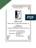 Tiểu Luận Thiết Kế Hệ Thống Tự Động Hóa Trạm Biến Áp 110KV Sử Dụng RTU - Tài Liệu, eBook, Giáo Trình