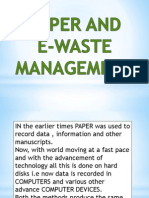paper and ewaste management