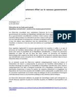 Déclaration du département d'État sur le nouveau gouvernement en Centrafrique