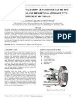 Performance Evaluation of Passenger Car Tie Rod Using Numerical and Theoretical Approach With Different Materials