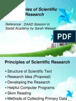 Principles of Scientific Research