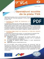 Pliantul 4 Operatiuni Scutite de La Plata TVA