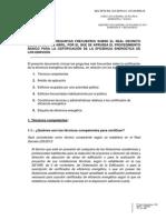 Respuestas a Preguntas Frecuentes de Certificación Energética 08-07-13