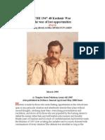 The 1947-48 Kashmir War Revised