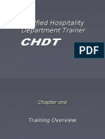 Certified Hospitality Department Trainer (Industry of Tourism)