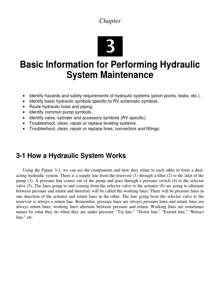 Hydraulic System Maintenance | Valve | Electrical Wiring
