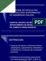Síndrome de Dificultad Respiratoria (Enfermedad de 3
