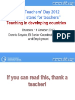 teaching in developed countries