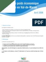 TMO Régions - CDT 94 Synthèse publiée étude pois éco du tourisme