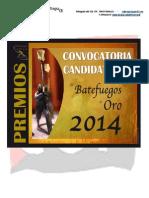 Convocatoria Premios El Batefuegos de Oro 2014