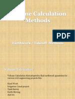 Earthwork Volume Calculation Methods