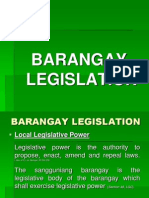Brgy Local Legislation