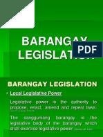 Brgy Local Legislation