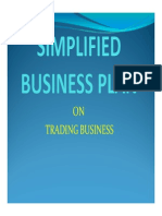 Simplified Business Plan Sample