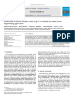 Fabrication of in Situ Foamed Chitosan TCP Scaffolds for Bone Tissue Engineering Application 2012 Materials Letters