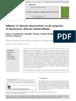 Influence of Chitosan Characteristics on the Properties of Biopolymeric Chitosan Montmorillonite Lertsutthiwong P