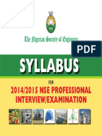 Syllabus for NSE Professional