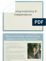 fostering autonomy and independence