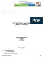 Solutions to Problems in Elementary Differential Equations