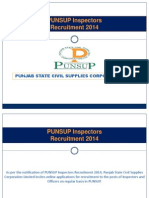 Punsup Recruitment 2014