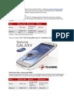 Bagi Anda Pengguna Smartphone Samsung Tipe Galaxy