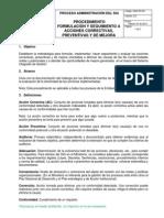 Procedimiento Acciones Correctivas Preventivas Febrero 2013