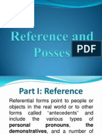Reference and Possession