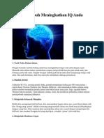 18 Cara Ampuh Meningkatkan IQ Anda