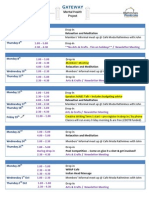 September 2014 Schedule