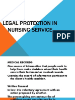 Legal Protection of Nursing Services