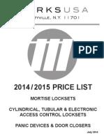 Marks Price Book- 2014-2015