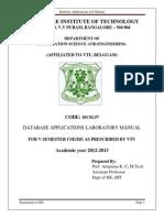 Dbms Lab Manual 10CSL58