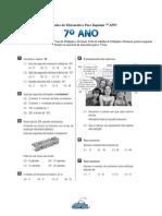 Exercícios de Matemática - Múltiplos e Divisores