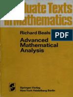 Advanced Mathematical Analysis - R Beals