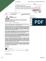 02-09-14 La Crónica de Hoy | Segundo Informe de Gobierno del presidente Enrique Peña Nieto