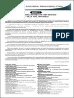 LA AUTONOMÍA UNIVERSITARIA COMO IDENTIDAD Y VALOR DE LA UNIVERSIDAD