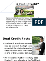 AHS Dual Credit Presentation