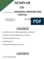 3D printing or printer
