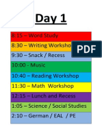 3M's Schedule