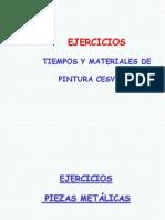 Tiempos y Materiales de Pintura CESVIMAP Ejercicios