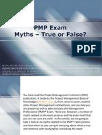 PMP Exam  Myths – True or False?