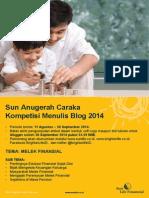 Sun Anugerah Caraka Kompetisi Menulis Blog 2014 Final